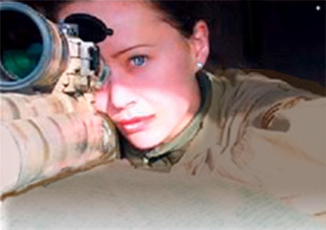 How many times do you think a female sniper gets sexually harrassed during the course of a tour in the Suck?