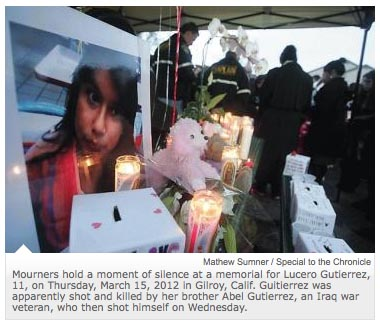Memorial for Gutierrez's younger sister he shot and killed before committing suicide.