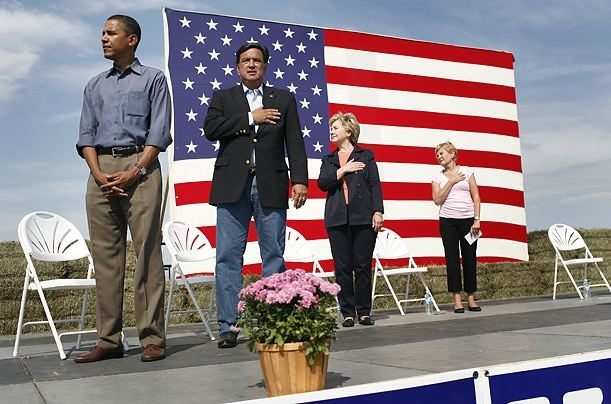 Barack Obama not saluting