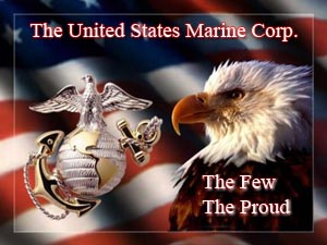 The Marine Corp Ball and Anchor with an Eagle: The Few, The Proud